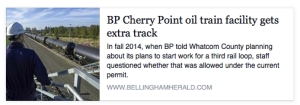bp cherry point gets extra track