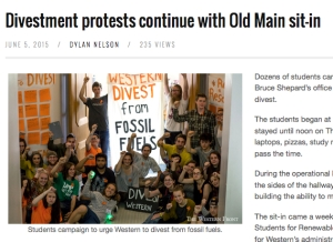 divestment protests