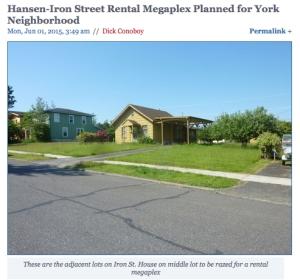 Hanson-Iron street rental