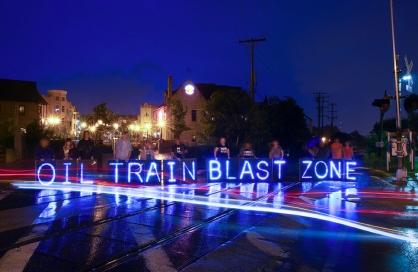 oil train blast zone