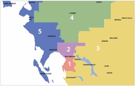 5 district map