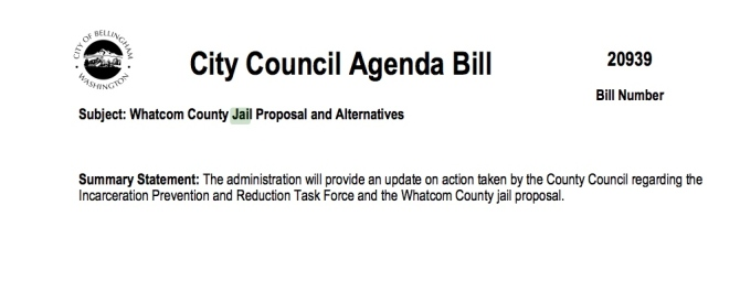 cob agenda bill jail