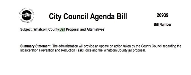 cob agenda bill jail