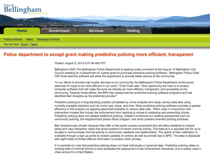 cob police predictive