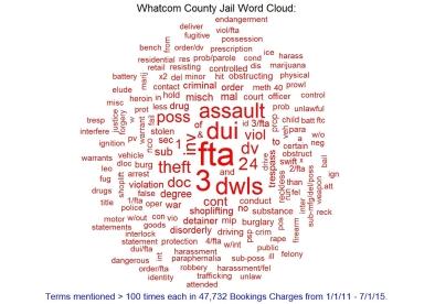 whatcom jail word cloud