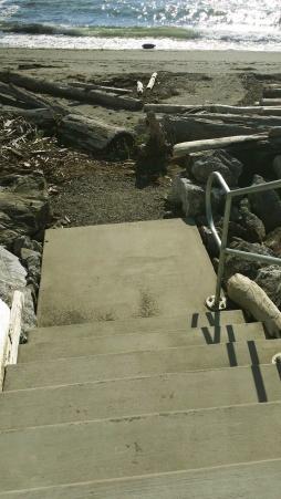 pocket beach stair landing