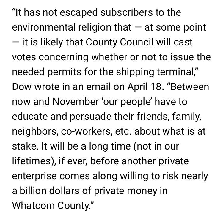 The Bellingham Herald Omits Important Context From Charter Impressive Dow Quote