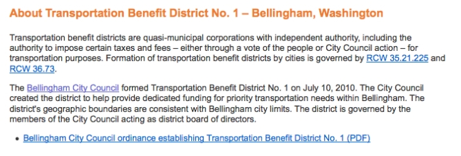 transportations district