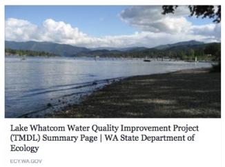 Lake Whatcom Water Quality