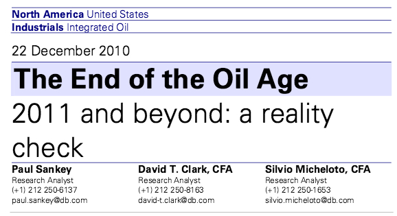 end of the oil age