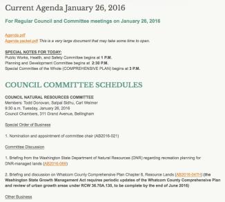 agenda jan 26 committees
