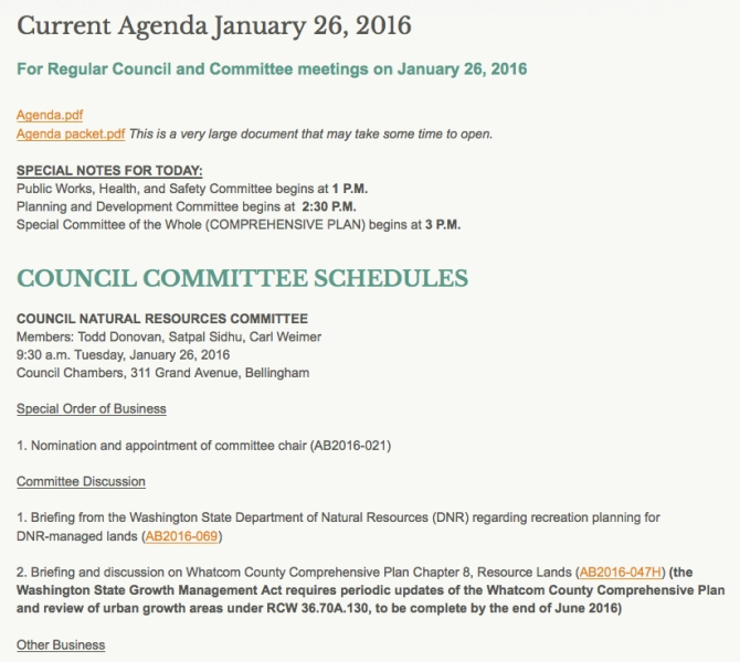 agenda jan 26 committees