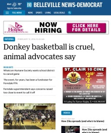 Belleville News-Democrat donkey