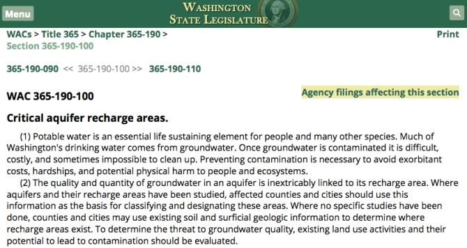 critical aquifer