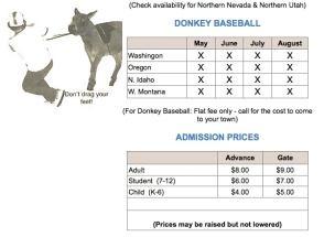donkey admission prices
