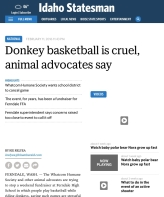 Idaho statesman donkey