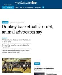 Myrtle Beach online donkey