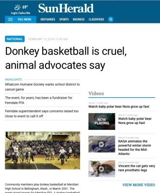 Sun Herald donkey