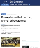 Telegraph donkey