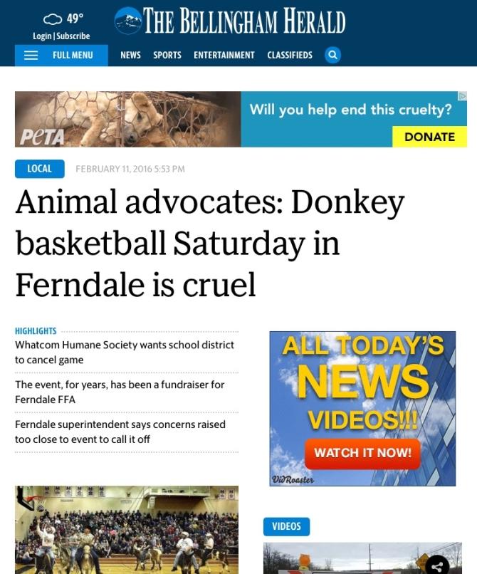 The Bellingham Herald donkey