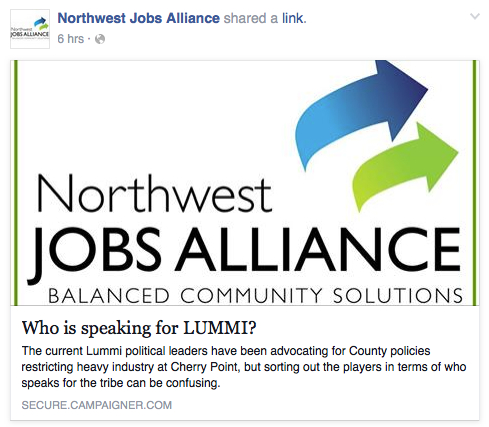 who is speaking for LUMMI nwja