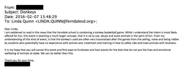 donkeys cancel event