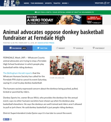 fox 13 ap article donkey basketball