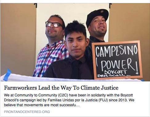front and centered climate justice