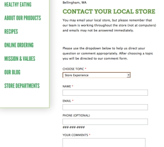 contact whole foods