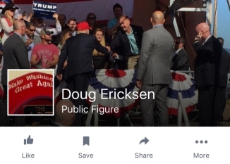 ericksen for trump banner