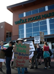 whole foods building protestors