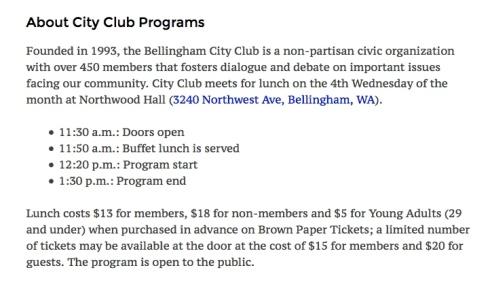 city club programs