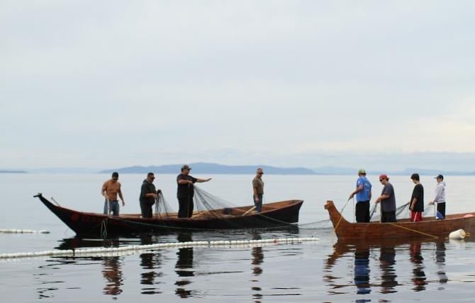 Lummi tribal members reef net fishing-3