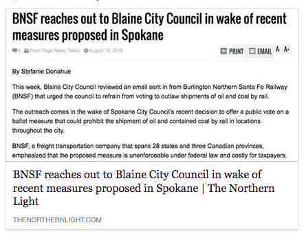bnsf reaches out to blaine fb