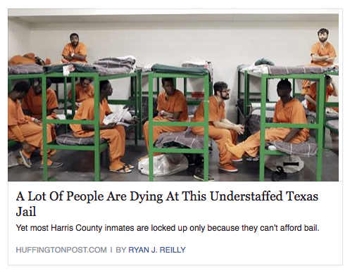 people dying in jail huffington