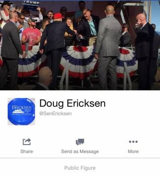 ericksen with trump at rally from his pf page