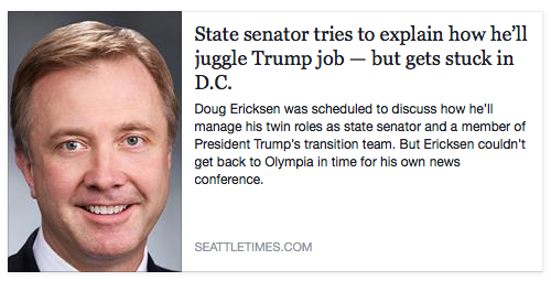 seattle times ericksen juggle trump job