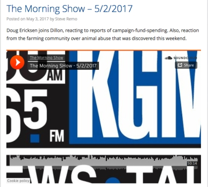 kgmi morning show with ericksen 050217