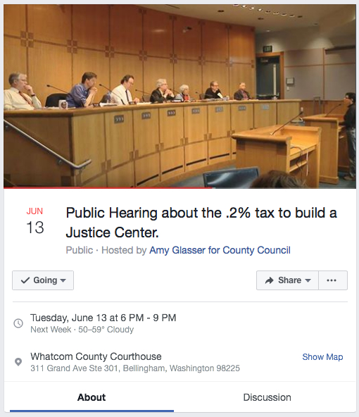 rally and hearing on jail size
