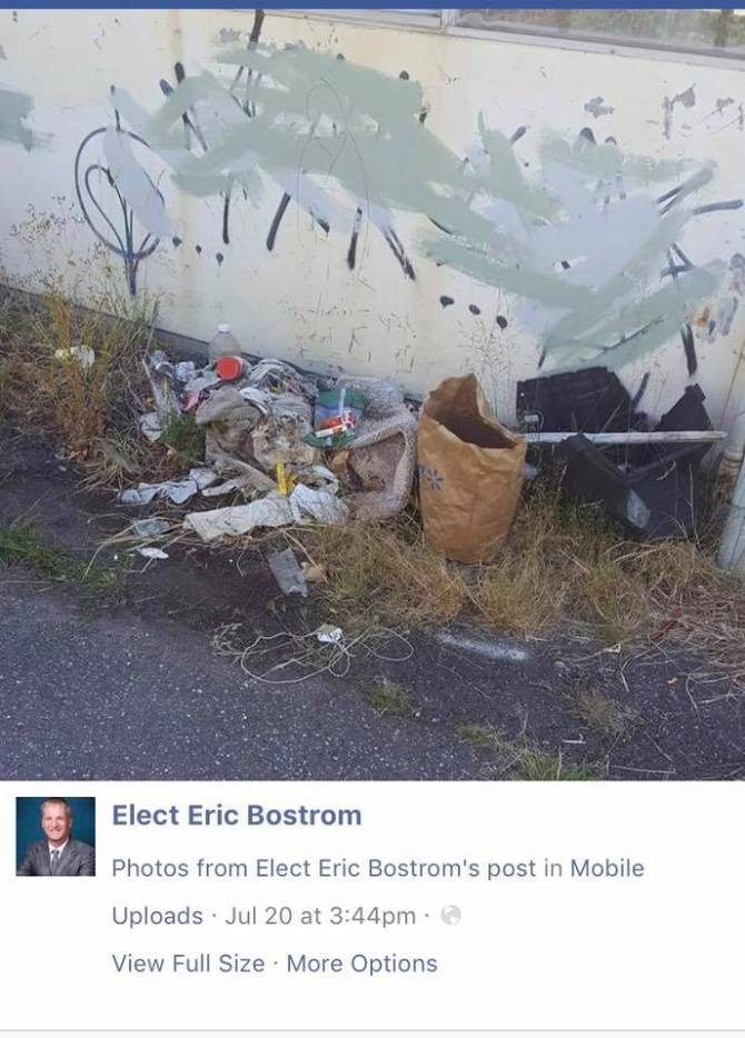 bostrom trash homeless post