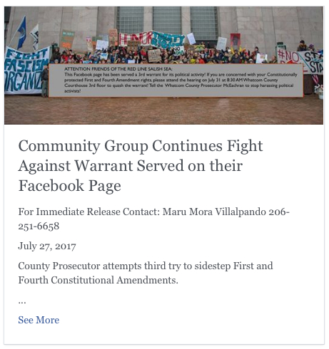 community fights warrant redline