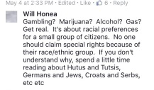 honea comment gambling marijuana