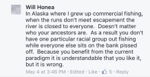 honea comment in alaska where i grew up