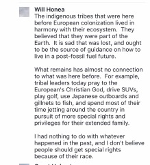 honea comment indigenous tribes