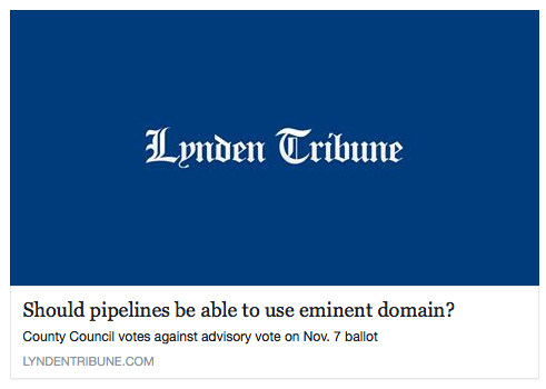tribune eminent domain