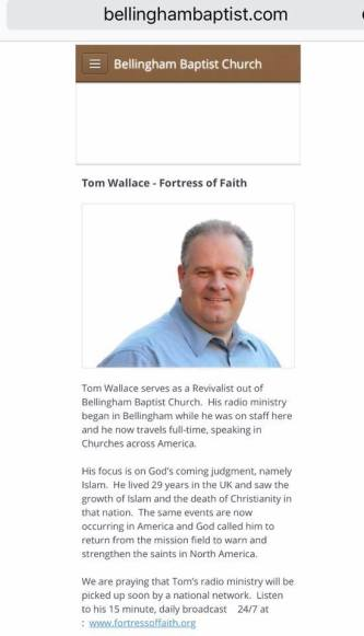 bellingham baptist church tom wallace