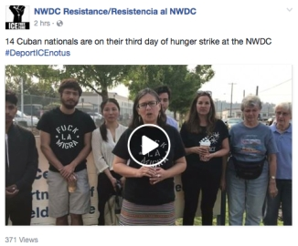 cuban nationals on hunger strike video