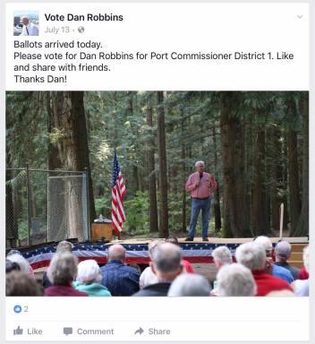 dan robbins and whatcom republicans picnic