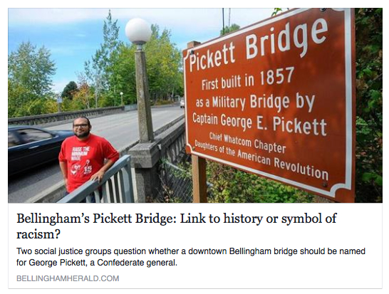 Elite perspective on the Pickett Bridge signs in this week's Cascadia  Weekly online / Noisy Waters Northwest | noisy waters northwest