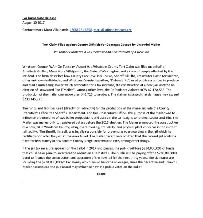 jail tort press release 2